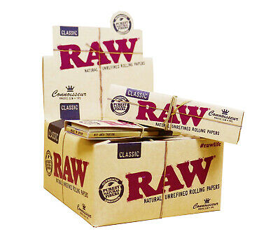 Full Box of 24 Booklets RAW Connoisseur King Size Slim Rolling Papers with Tips 3