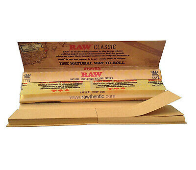 Full Box of 24 Booklets RAW Connoisseur King Size Slim Rolling Papers with Tips 4