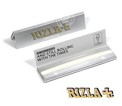 Rizla Silver King Size Slim Ultra Thin Cigarette Smoking Rolling Papers Original 4