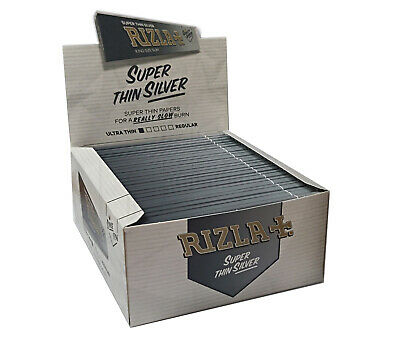 Rizla Silver King Size Slim Ultra Thin Cigarette Smoking Rolling Papers Original 3