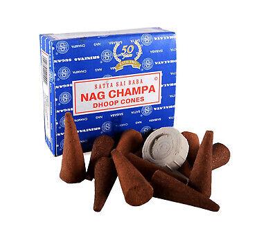 Genuine Original Satya Incense Sai Baba Nag Champa Dhoop Cones - Fresh Stock 5