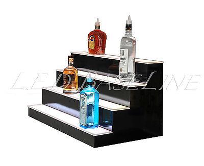 "36"" LED LIGHTED BAR SHELVES, 4 Step, LED Liquor Bottle displ, Display Shelving 3"