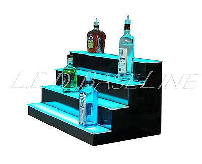 "36"" LED LIGHTED BAR SHELVES, 4 Step, LED Liquor Bottle displ, Display Shelving 4"