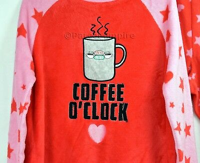Friends The TV Series Ladies Pyjama set PJS Pj/'s Coffee O Clock Central Perk