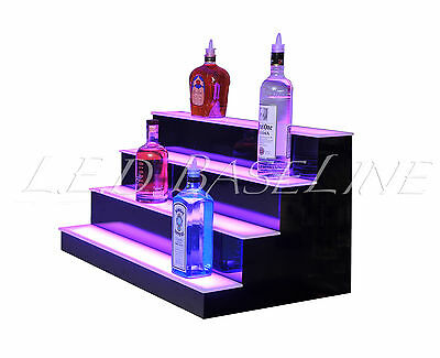 "36"" LED LIGHTED BAR SHELVES, 4 Step, LED Liquor Bottle displ, Display Shelving 5"
