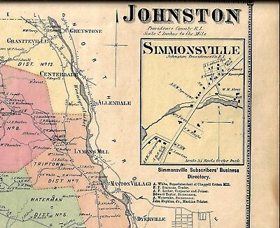 1870 JOHNSTON, Ri. Map Removed From The Beers Atlas 0F 1870 on map of king of prussia pa, map of jefferson city mo, map of junction city ks, map of jean nv, south kingstown, north kingstown, map of kalamazoo mi, north providence, map of lansdale pa, map of london ky, map lodi ca, map of lake charles la, map of levittown ny, map of lake forest ca, map of lynn ma, map of little rock ar, map of lees summit mo, central falls, map of lafayette in, east providence, map of league city tx, map of lake havasu city az, map of livonia mi, map of johnson city tn, map of long beach ms,