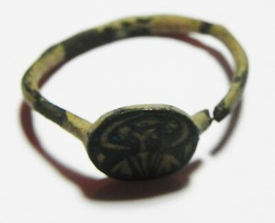 Zurqieh -As4357- Ancient Holy Land Byzantine Or Earlier Bronze Ring 2