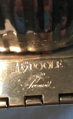 A lovely Poole by Leonard Silver Plate Swan Footed Casserole 4
