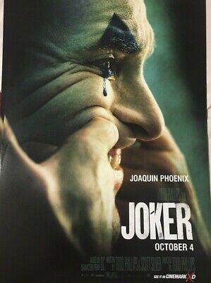 JOKER 2019 Advance Teaser Ver A DS 2 Sided 27X40 US Movie Poster Phoenix + Bonus 2