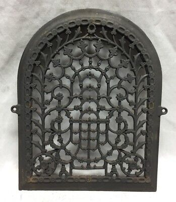 One Antique Arched Top Heat Grate Grill Stars Flowers Pattern Arch 11X14 635-18C 7