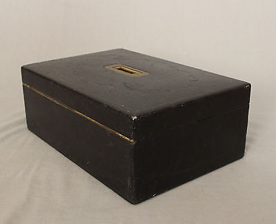 19th Century Leather Writing Box by W Leuchars 38 Piccadilly London 10
