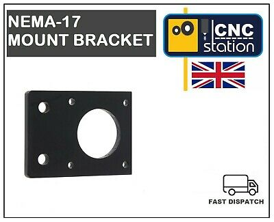 Nema 17 42mm Stepper Motor Mount Flat Bracket Plate Alloy CNC 3D Printer UK 2