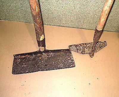 Tolles Konvolut mit 7 Gartenwerkzeugen, Feldwerkzeug - antik 5