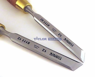 "New Narex (Made in Czech Republic) Right & Left 12 mm 1/2"" Skew Paring Chisels"