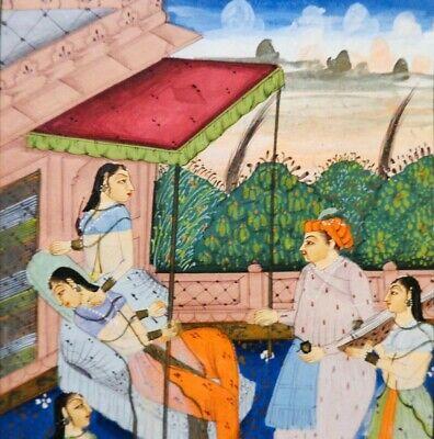 18Th-19Th C Antique Mughal (India) Miniature Illuminated Manuscript Opaque W/C 3