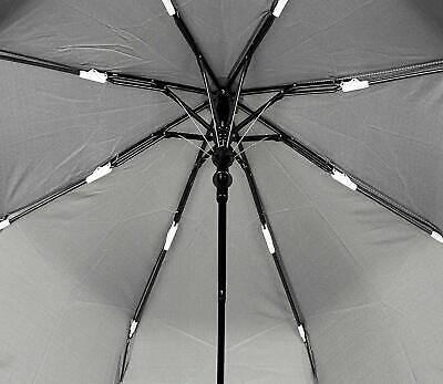 🌂Ombrello Mini Portatile Grigio Apertura Automatico Antivento Pioggia Cod.8065 5