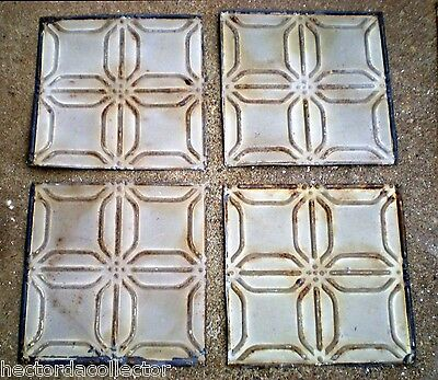 SALE  Antique Ceiling Tin Tile Frame Simple and Elegant Shabby Chic Canvas 10