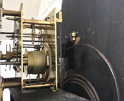 ~ Antique Brass Dial OAK Grandfather Longcase Clock GOLDSMITHS REGENT ST LONDON 8