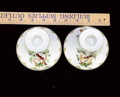 Georges Briard Porcelain CANDLESTICKS Birds 5