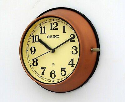Vintage 1980/'s Maritime Slave Clock White Dial Nautical Ship Quartz Seiko Japan