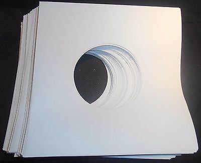 "Package of 50, 45 rpm 7"" Record Sleeves 20# White Paper.  100% acid-free. 3"