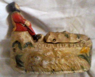 Spardose Sparsarg Columbus Weihnacht Geschenk Vintage Deko  Antik Spielzeug 6