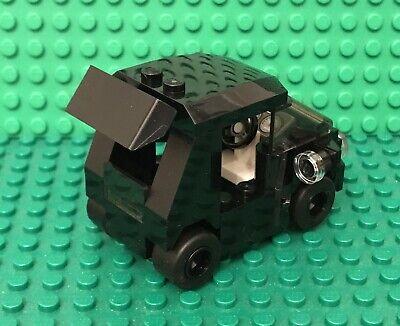 Lego Prebuilt Black City MOC Race Sports Car W// Odometer,high Stand Spoiler Wing