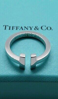 Tiffany&Co T Square Ring In 18K White Gold 4
