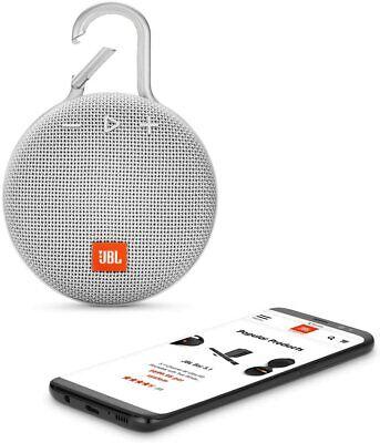 JBL Clip 3 Portable Waterproof Wireless Bluetooth Speaker - White 4