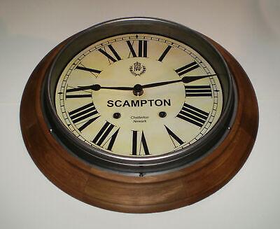 Custom Railway Clock, Victorian Wooden Clock, Bespoke Dial Made to Order. 7