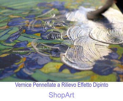 ALBERO DELLA VITA Stampa su Tela Vernice Effetto Pennellate Klimt