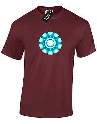 Iron Man Arc Reactor Mens T Shirt Tony Stark Industries Avengers Superhero 7