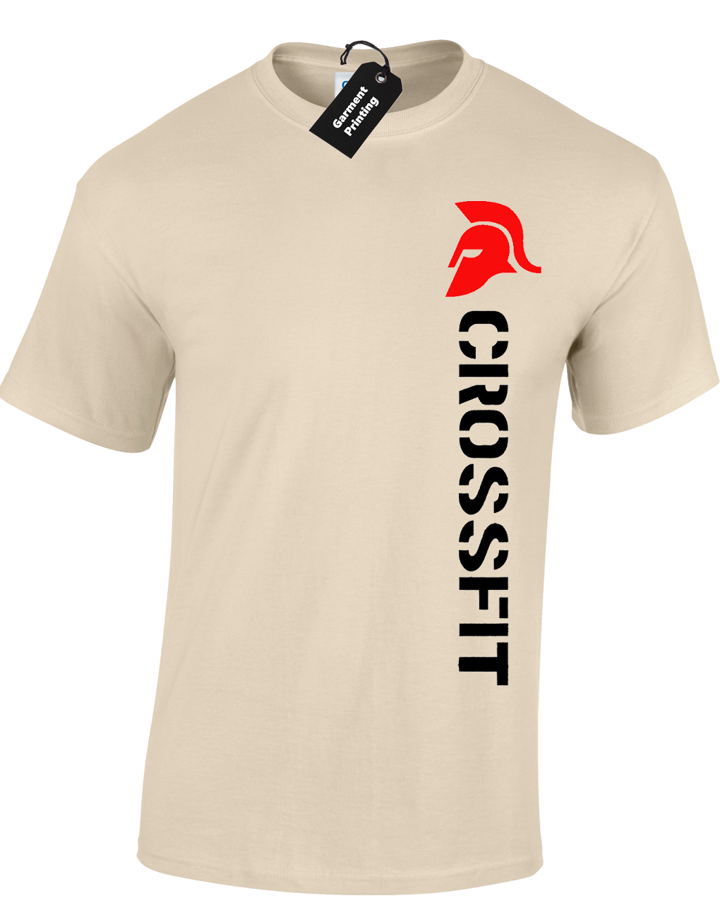 5b8463f9c Crossfit Spartan Mens T-Shirt Training Top For Gym Weights Running Fitness  9 9 of 12 ...