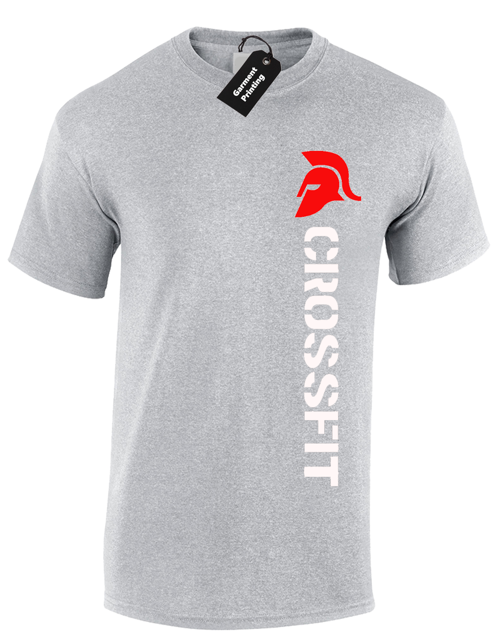 e478ba91f Crossfit Spartan Mens T-Shirt Training Top For Gym Weights Running Fitness  7 7 of 12 ...