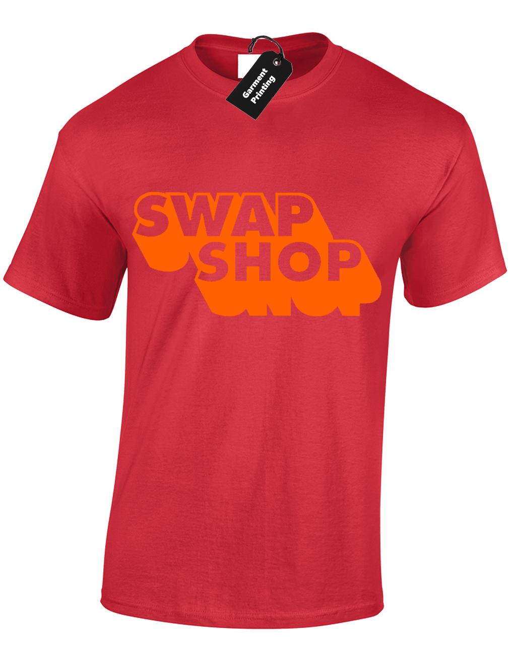 SWAP SHOP MENS T SHIRT FUNNY RETRO SATURDAY MORNING TV KIDS CLASSIC 70/'S 80/'S