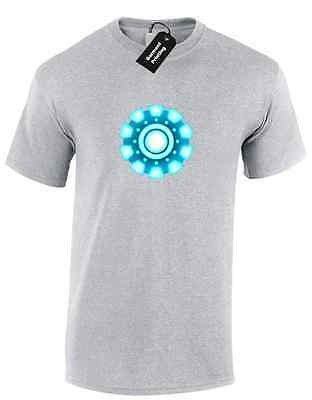 Iron Man Arc Reactor Mens T Shirt Tony Stark Industries Avengers Superhero 6