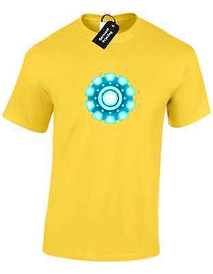 Iron Man Arc Reactor Mens T Shirt Tony Stark Industries Avengers Superhero 4