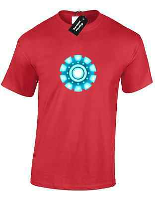 Iron Man Arc Reactor Mens T Shirt Tony Stark Industries Avengers Superhero 8