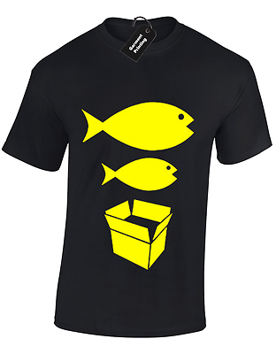Big Fish Little Fish Mens T Shirt S-5Xl Dance Dj Acid House Rave Hacienda Music 3