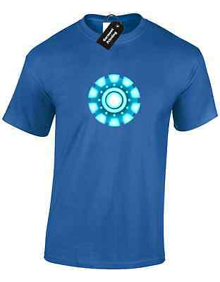Iron Man Arc Reactor Mens T Shirt Tony Stark Industries Avengers Superhero 9