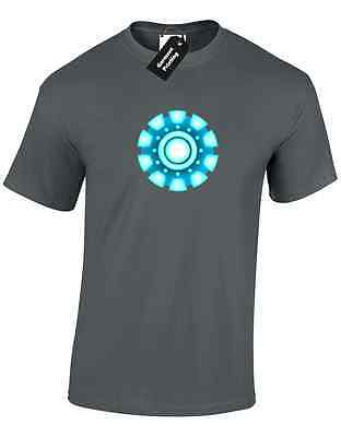 Iron Man Arc Reactor Mens T Shirt Tony Stark Industries Avengers Superhero 3