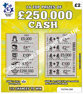 World's Most Realistic - Fake Joke Lottery Scratch Cards Scratchcard Tickets 4