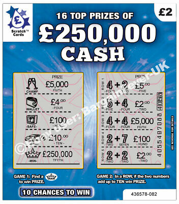 World's Most Realistic - Fake Joke Lottery Scratch Cards Scratchcard Tickets 6