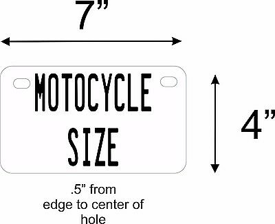 50 States Any Text Personalize Vehicle Car Auto OR Motorcycle License Plate Tag 5
