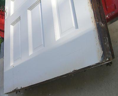 Antique Pocket door   Architectural  Salvage Raised panels  Handsome 2