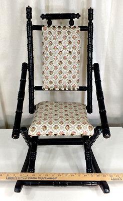 Antique Eastlake Child's Size Rocker Victorian Wooden Doll Rocking Chair Vintage 6
