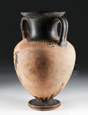 Etruscan Black-Figure Amphora - Figure & Palmettes Lot 35A