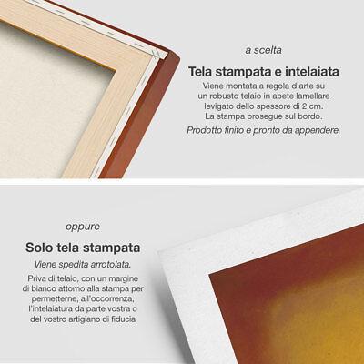 """Mark Rothko 'Yellow over Purple"""" Stampa Fine Art su tela Canvas Quadro Astratto 3"""