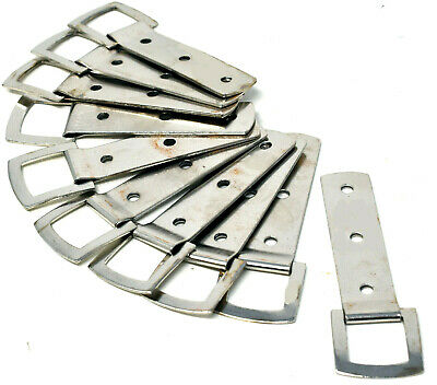 10 x NICKEL HEAVY DUTY 3 HOLE PICTURE FRAME STRAP HANGER HANGING HOOK + SCREWS 4