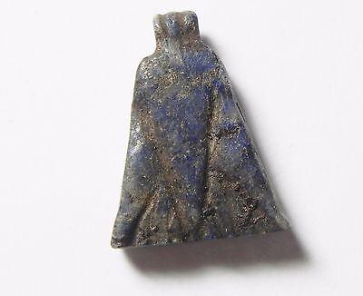 Zurqieh-Af499-  Ancient Egypt, 18Th Dynasty, Lapis Lazuli Lotus Flower Pendant 2